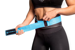black-sky-blue women weight lifting belt fit adjustable size