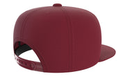 burgundy adjustable snapback iron bull strength