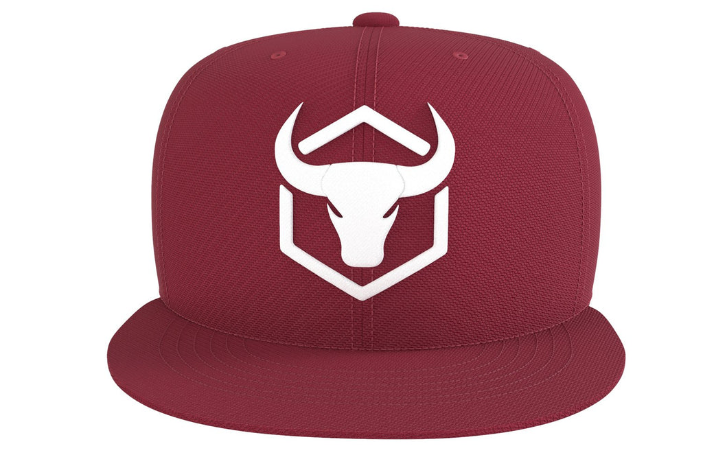 burgundy cap with fitness logo