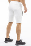 cream tapered fit shorts for fitness
