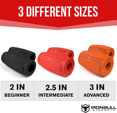 all Fat grips sizes comparison Iron Bull Strength