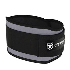 gray 5 inches weight lifting belt for powerlifting