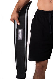 gray back support 5 inches weight lifting nylon belt