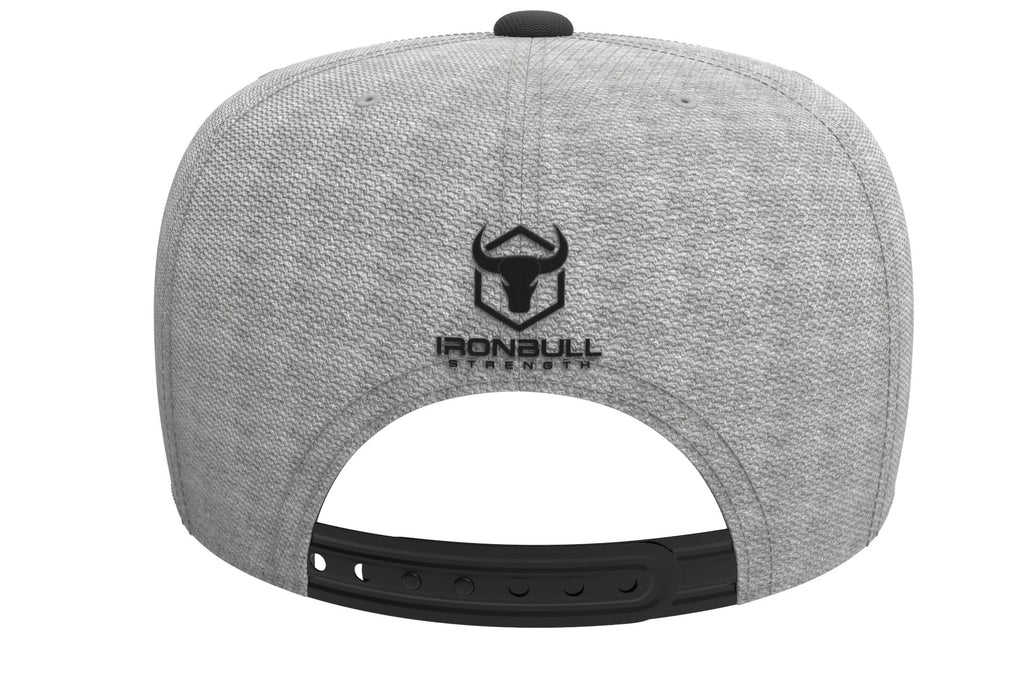 gray-black snapback iron bull strength