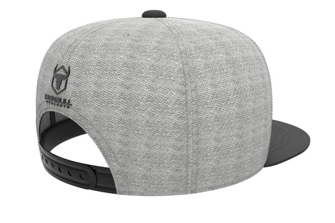 gray-black adjustable snapback iron bull strength