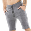 gray nice looking shorts for bodybuilder and strongman