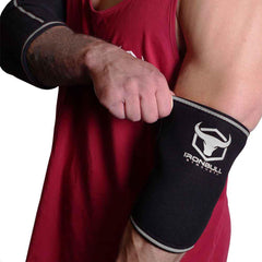 black-gray elbow protection sleeves for fitness