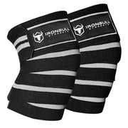 black-gray knee wraps for pain free squats