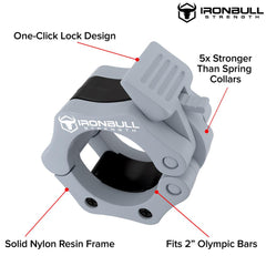 gray nylon barbell collar features