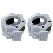 gray nylon barbell collars pair