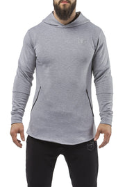 gray all season good looking hoodie muscle fit