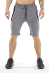 gray classic zip shorts from iron bull strength
