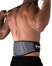 gray padded squat and powerlifting belt