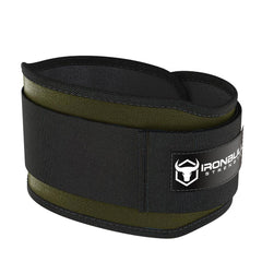 army-green 5 inches weight lifting belt for powerlifting