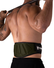 army-green padded squat and powerlifting belt