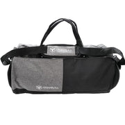 black gym duffle bag front view