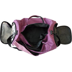 fuchsia gym bag multiple storage compartments