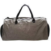 army-green gym duffle bag back view