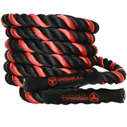all iron bull strength red and black battle rope