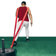 leg workout using speed training sled