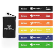 iron bull strength 6 mini resistance bands kit
