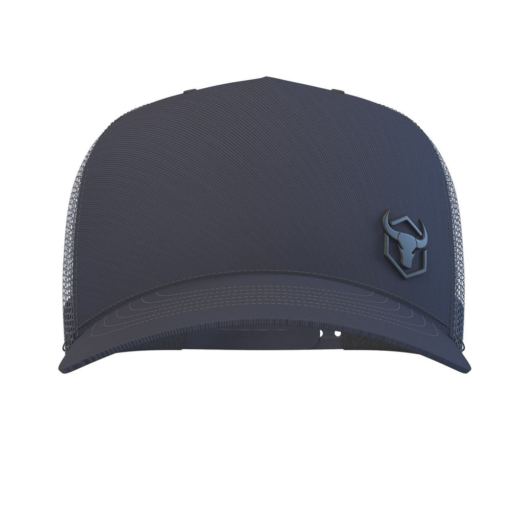 navy-blue trucker hat iron bull strength