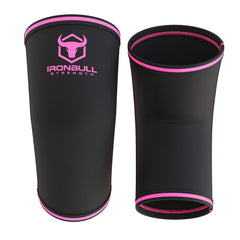 black-pink 5mm elbow sleeves front and back view