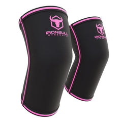 black-pink powerlifting elbow sleeve iron bull strength