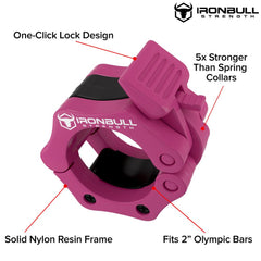 pink nylon barbell collar features