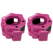 pink nylon barbell collars pair