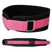 black-pink women weight lifting belt back support for squat and deadlift