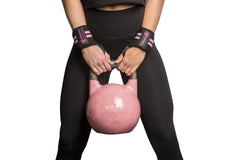 black-pink women wrist wraps protection for kettlebell workout
