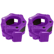 purple green nylon barbell collars pair