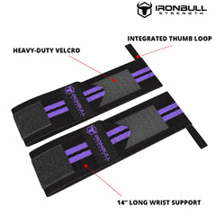 black-purple woman wrist wraps features