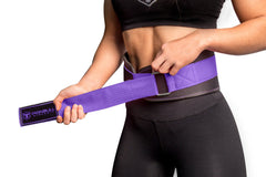 black-purple women weight lifting belt fit adjustable size
