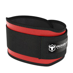 red 5 inches weight lifting belt for powerlifting