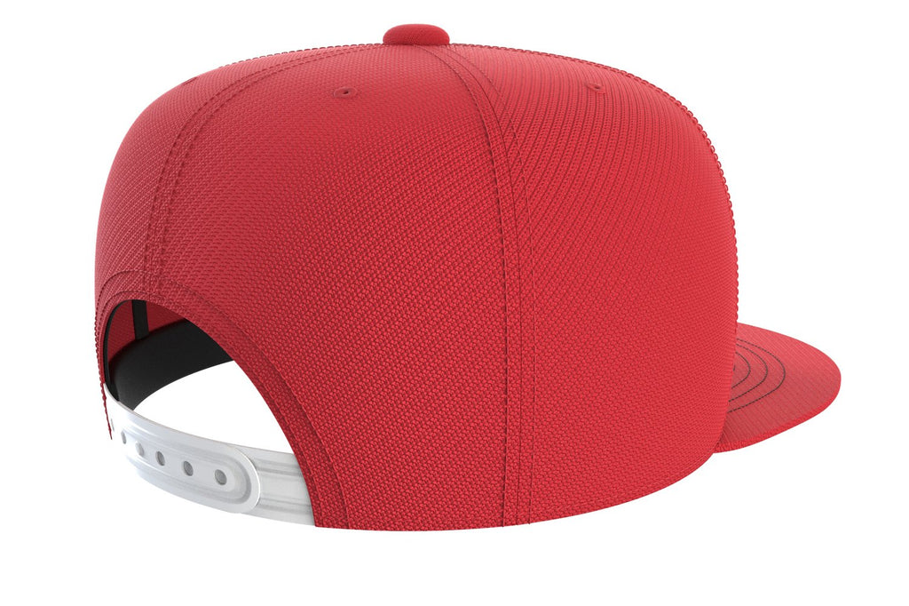 red cap with fitness logo