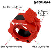 red nylon barbell collar features