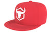red acrylic snapback iron bull strength
