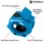 cyan green nylon barbell collar features
