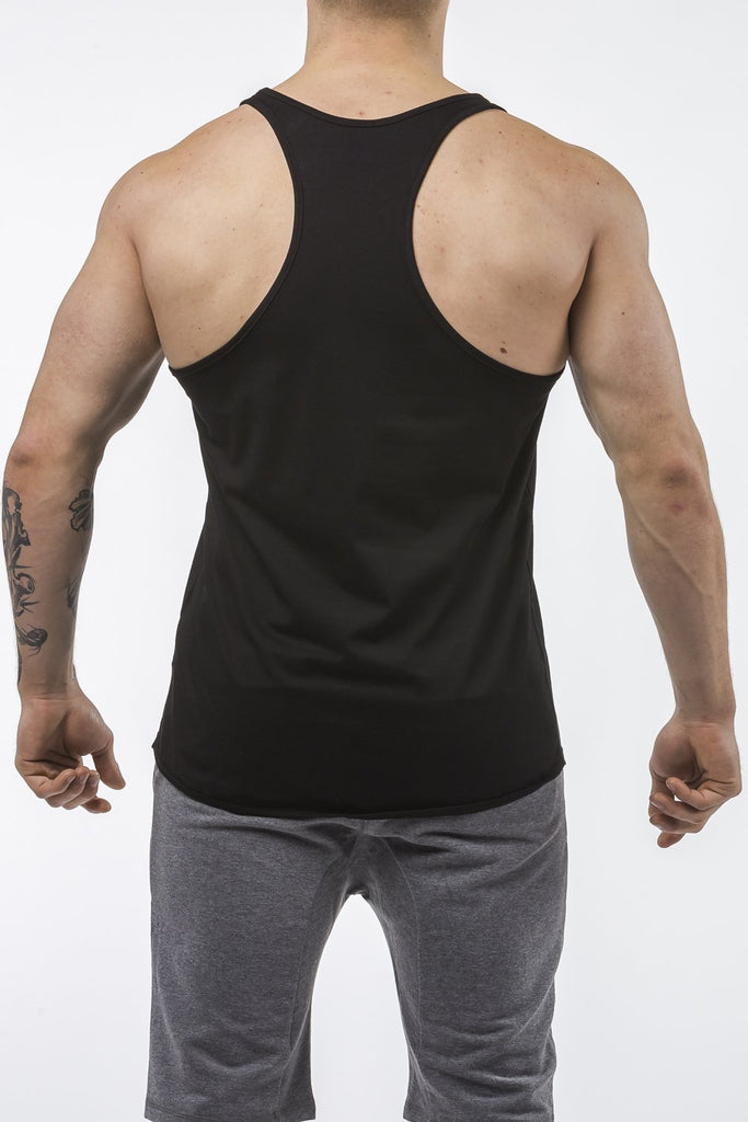 black gym tank top classic dry-fit back