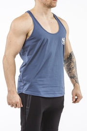navy-blue workout stringer classic series front side