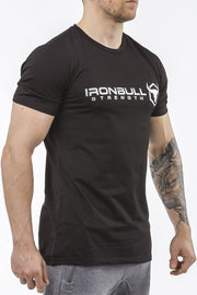 black classic series coton t-shirt iron bull strength
