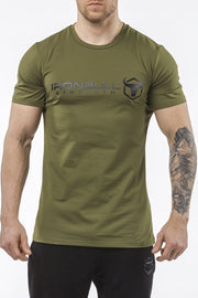 army-green classic series cotton best gym t-shirt