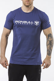 navy-blue classic series cotton best gym t-shirt