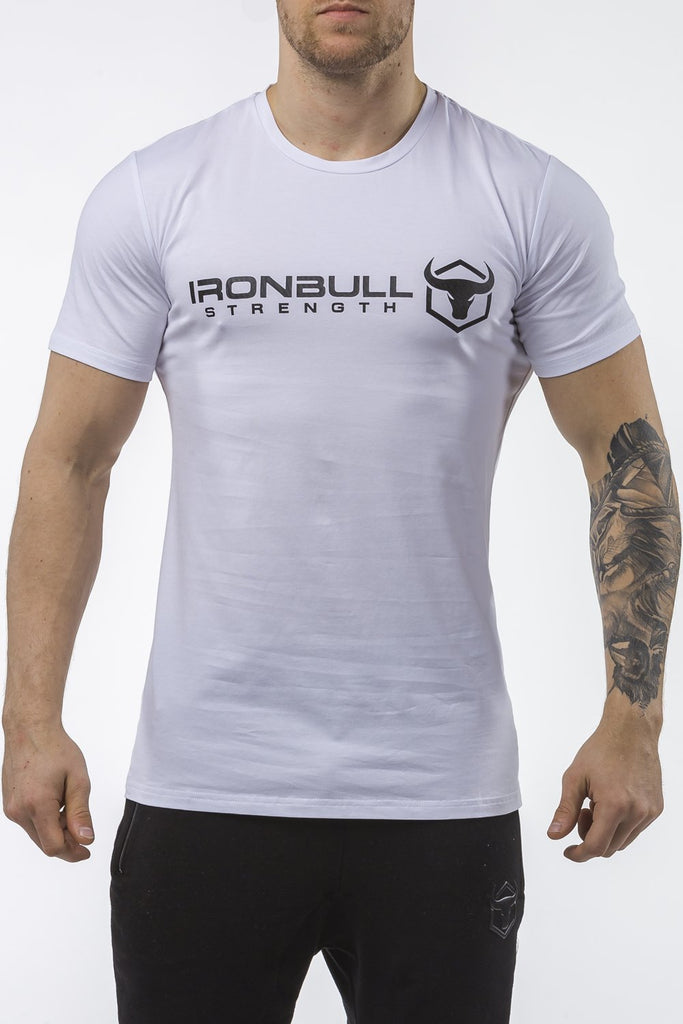 white classic series cotton best gym t-shirt