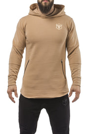 tan all season good looking hoodie muscle fit