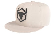 tan acrylic snapback iron bull strength