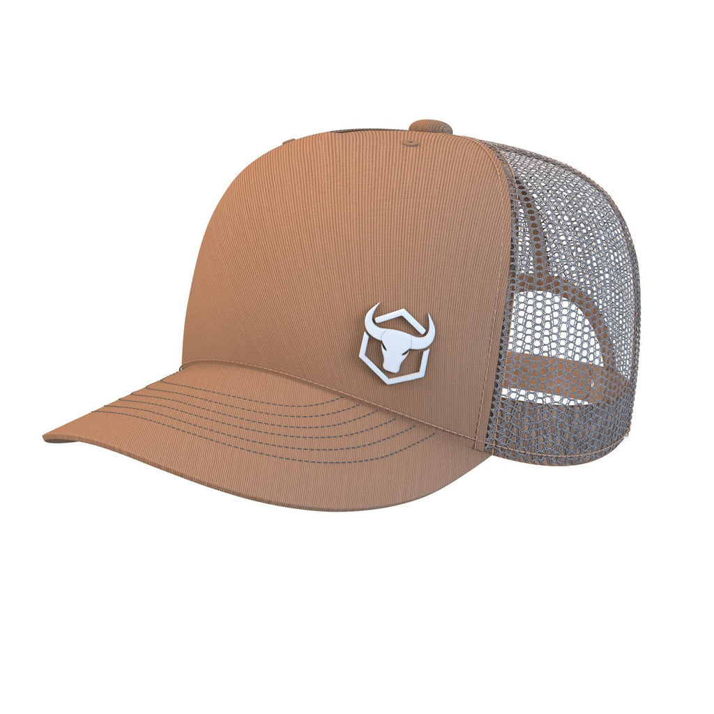 tan trucker cap iron bull strength