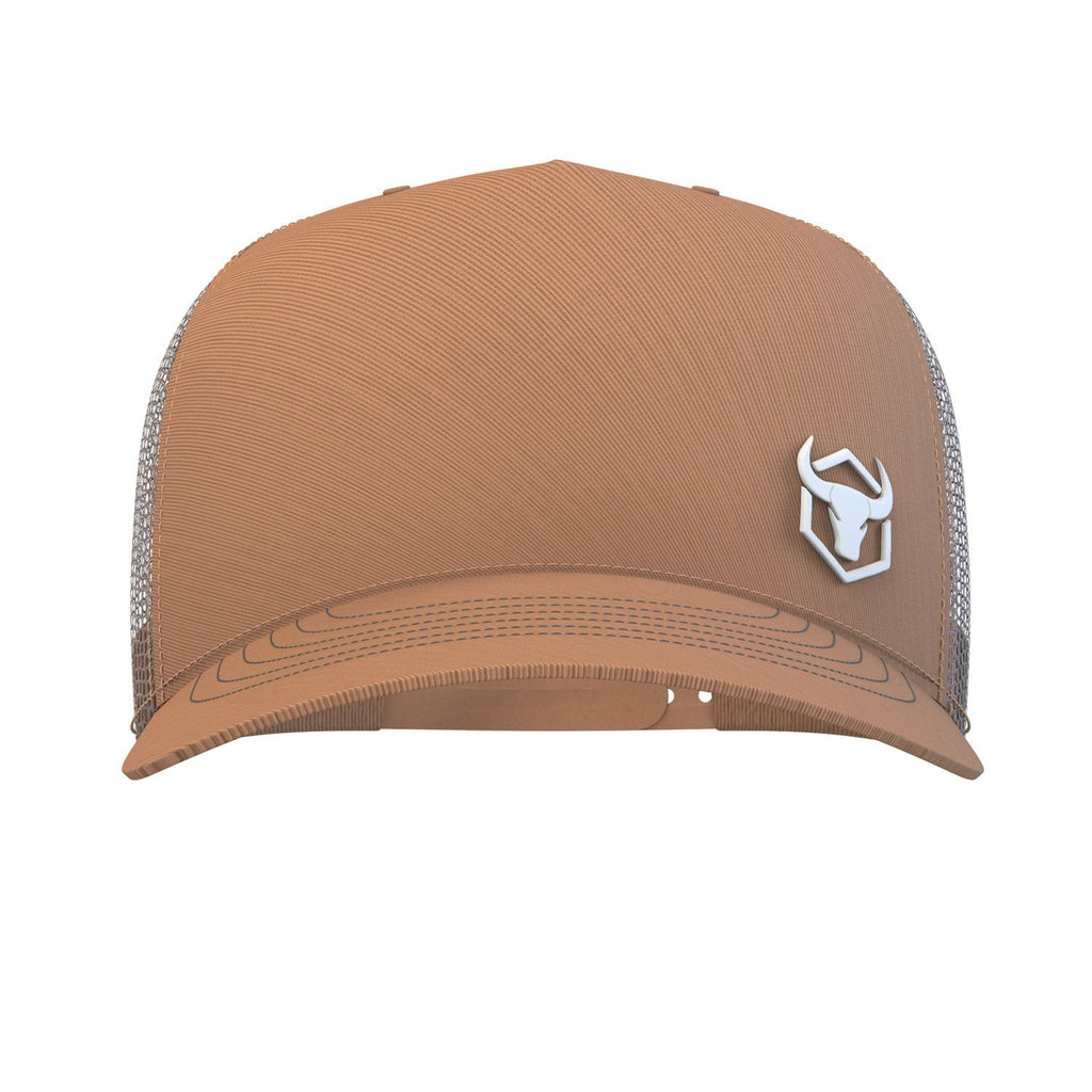 tan trucker hat iron bull strength